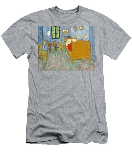 Men's T-Shirt (Athletic Fit) featuring the painting Bedroom At Arles by Van Gogh