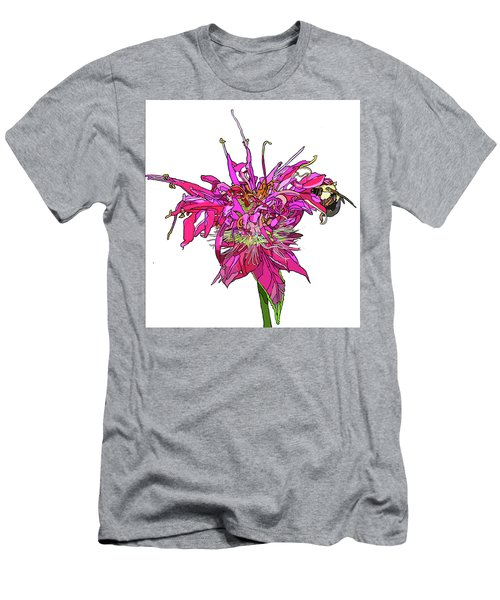 Bee Balm Men's T-Shirt (Slim Fit) by Jamie Downs