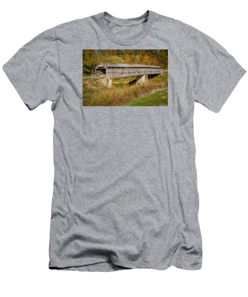 Beech Fork Or Mooresville Covered Bridge Men's T-Shirt (Athletic Fit)