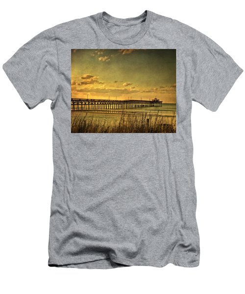 Behind Cherry Grove Pier  Men's T-Shirt (Athletic Fit)