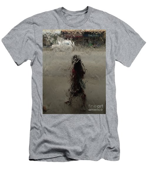 Men's T-Shirt (Slim Fit) featuring the photograph Behind Glass by Trena Mara