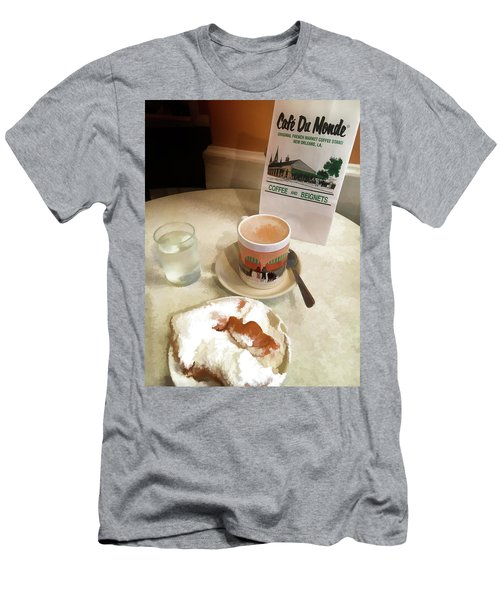 Beignet And Coffee At Cafe Du Monde Men's T-Shirt (Athletic Fit)
