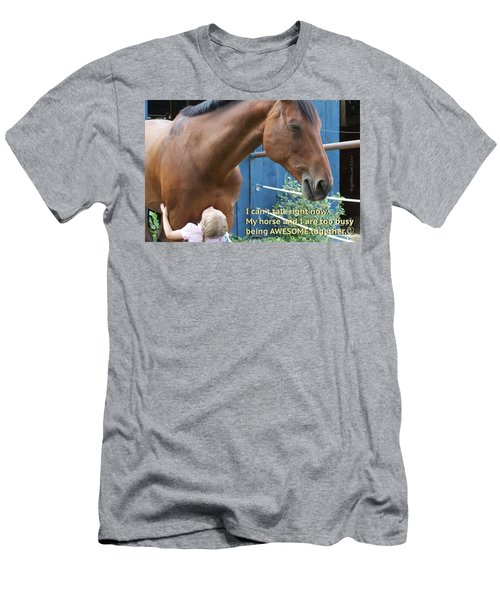 Being Awesome With My Horse Men's T-Shirt (Athletic Fit)
