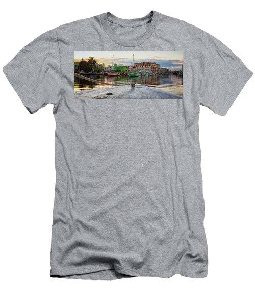 Belize City Harbor Men's T-Shirt (Athletic Fit)