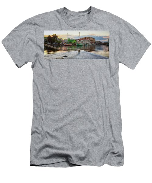 Belize City Harbor Men's T-Shirt (Athletic Fit)