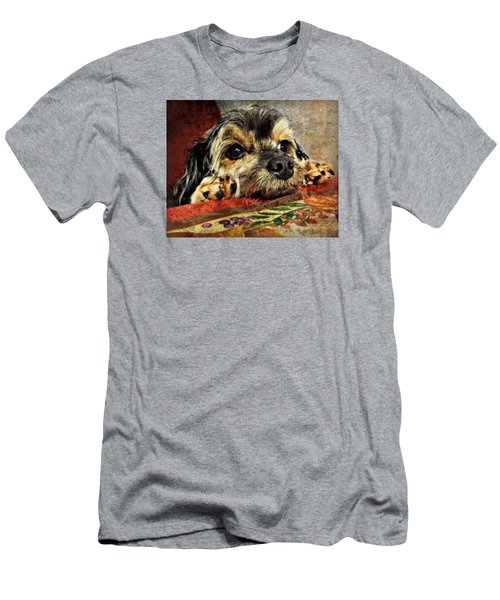 Bella's Thanksgiving Men's T-Shirt (Slim Fit) by Kathy M Krause