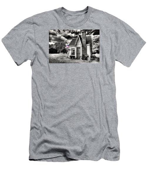 Men's T-Shirt (Slim Fit) featuring the digital art Bem Store Pumphouse by William Fields
