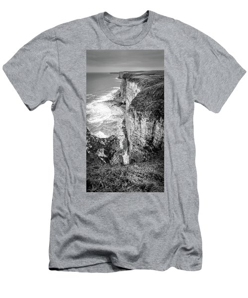 Bempton Cliffs Men's T-Shirt (Slim Fit) by Nigel Wooding