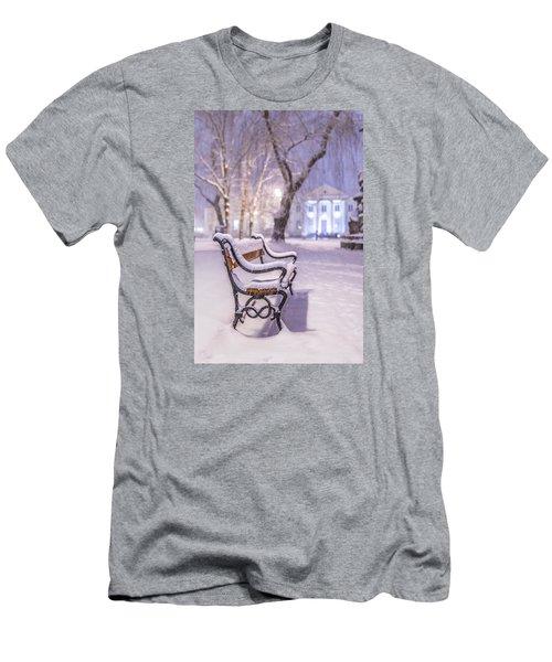 Men's T-Shirt (Slim Fit) featuring the photograph Bench by Jaroslaw Grudzinski