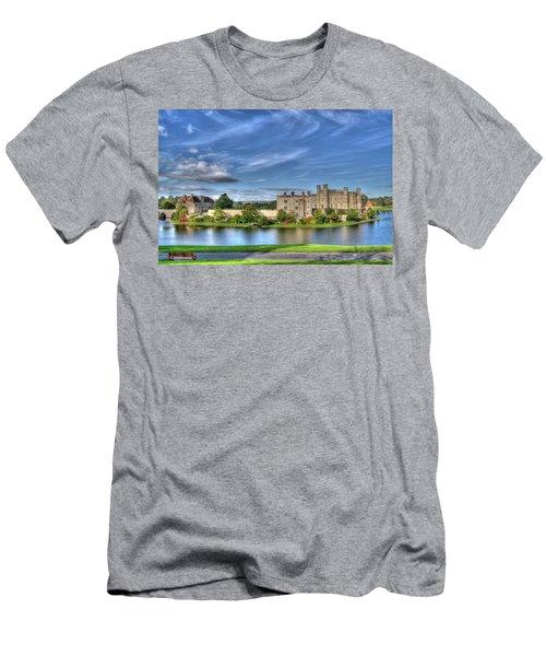 Bench View Of Leeds Castle Men's T-Shirt (Athletic Fit)