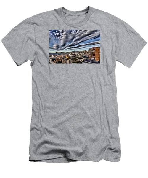 Benidorm Old Town Aerial View Men's T-Shirt (Slim Fit) by Mick Flynn