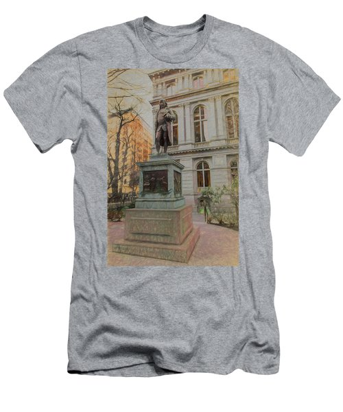 Benjamin Franklin Sketch Men's T-Shirt (Athletic Fit)
