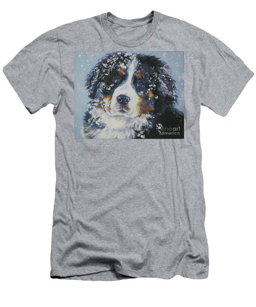 Bernese Mountain Dog Puppy Men's T-Shirt (Slim Fit) by Lee Ann Shepard