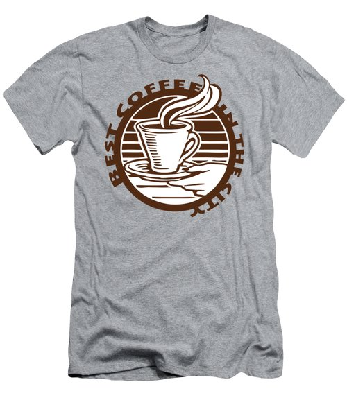Men's T-Shirt (Athletic Fit) featuring the digital art Best Coffee In The City by Jennifer Hotai