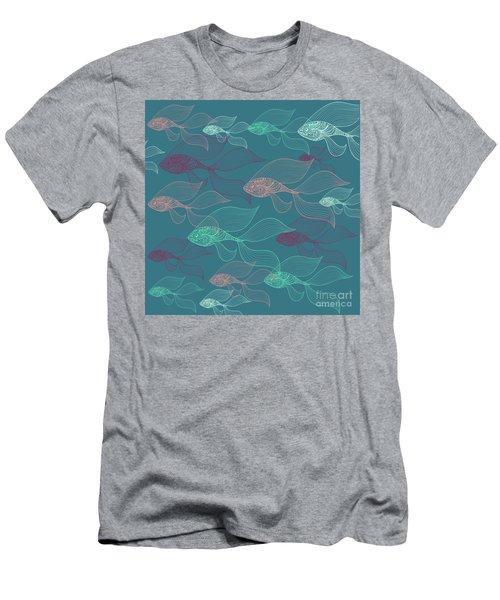 Beta Fish  Men's T-Shirt (Athletic Fit)