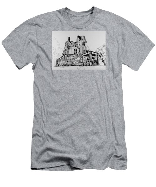 Betsy Ross' Home In Dover, N.j. Men's T-Shirt (Slim Fit) by Alan Johnson