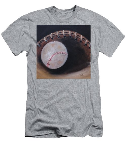 Men's T-Shirt (Athletic Fit) featuring the painting Between Innings by Judith Rhue
