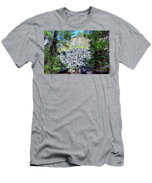 Between The Trees Devils Postpile Men's T-Shirt (Athletic Fit)