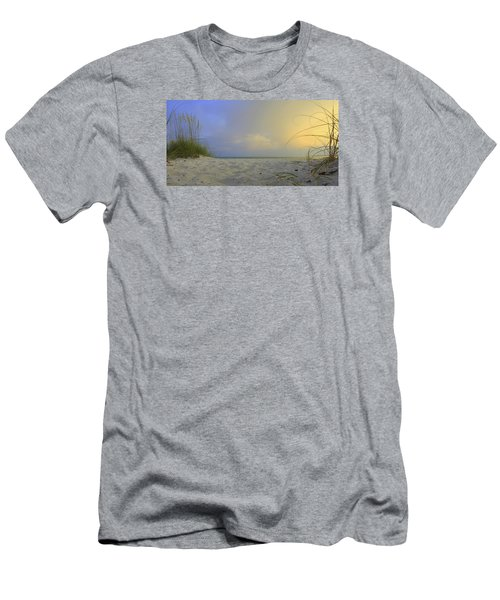 Betwen The Grass Men's T-Shirt (Slim Fit) by Sean Allen