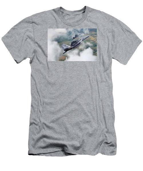 Beware Of Bulldogs Men's T-Shirt (Slim Fit) by Peter Chilelli