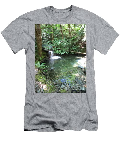 Men's T-Shirt (Athletic Fit) featuring the photograph Beyond The End Of The Trail At Limpy Creek by Marie Neder