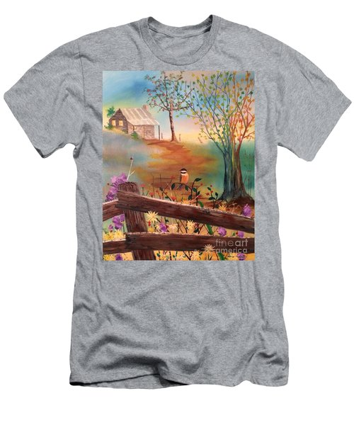 Men's T-Shirt (Athletic Fit) featuring the painting Beyond The Gate by Denise Tomasura