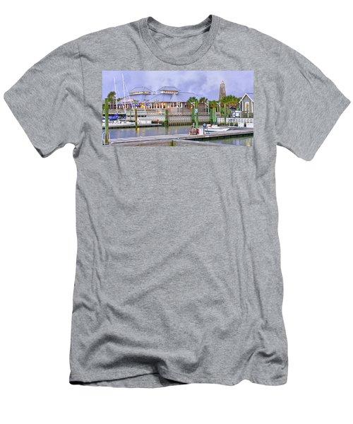 Bhi Marina Purple Hue Evening Men's T-Shirt (Athletic Fit)