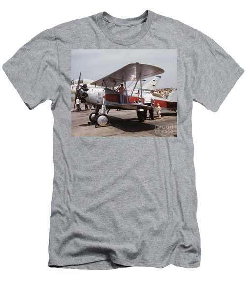 Men's T-Shirt (Athletic Fit) featuring the photograph Bi-wing-3 by Donald Paczynski