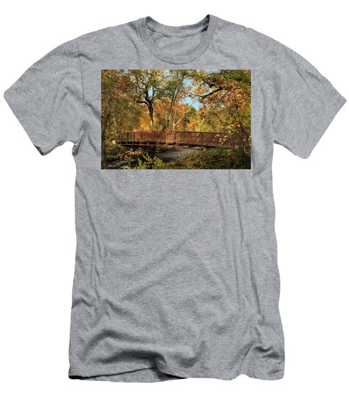 Men's T-Shirt (Athletic Fit) featuring the photograph Bidwell Park Bridge In Chico by James Eddy