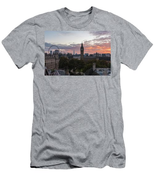 Big Ben London Sunrise Men's T-Shirt (Slim Fit) by Mike Reid