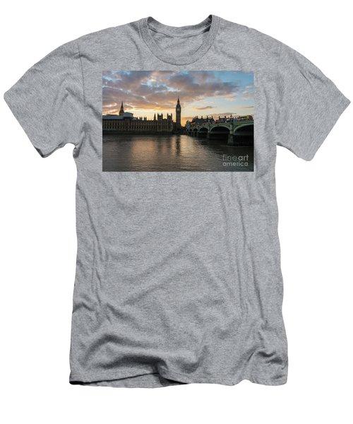 Big Ben London Sunset Men's T-Shirt (Slim Fit) by Mike Reid
