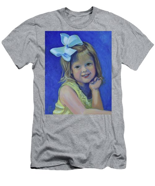 Big Bow Little Girl Men's T-Shirt (Athletic Fit)