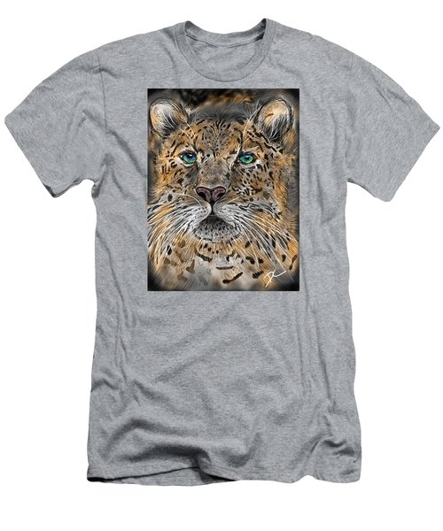 Men's T-Shirt (Athletic Fit) featuring the digital art Big Cat by Darren Cannell