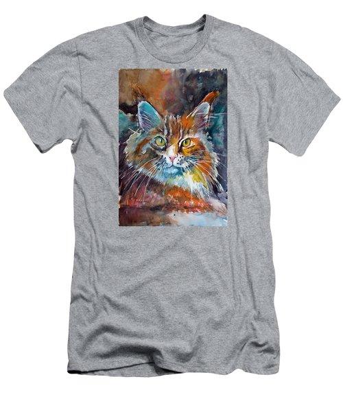 Big Cat Men's T-Shirt (Slim Fit) by Kovacs Anna Brigitta