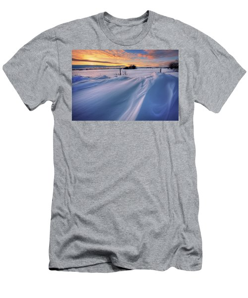 Men's T-Shirt (Slim Fit) featuring the photograph Big Drifts by Dan Jurak