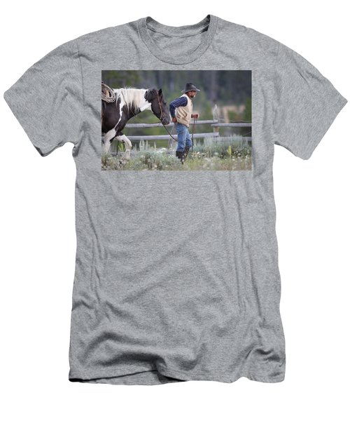 Big Horn Cowboy Men's T-Shirt (Athletic Fit)