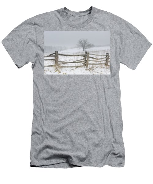 Men's T-Shirt (Athletic Fit) featuring the photograph Big Oak Tree by Ken Barrett