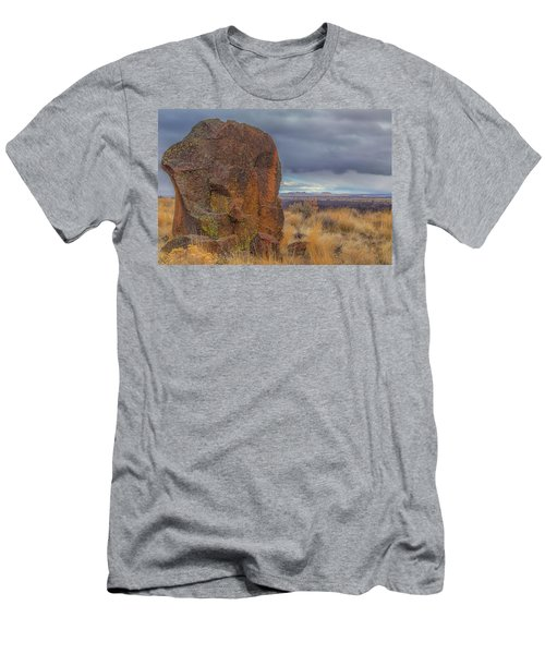 Big Rock At Lava Beds Men's T-Shirt (Athletic Fit)