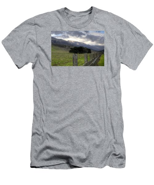 Big Sur Fence Line Men's T-Shirt (Athletic Fit)