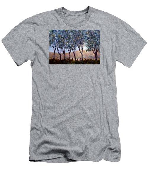 Bikers Of Burgundy Men's T-Shirt (Slim Fit) by Jill Musser