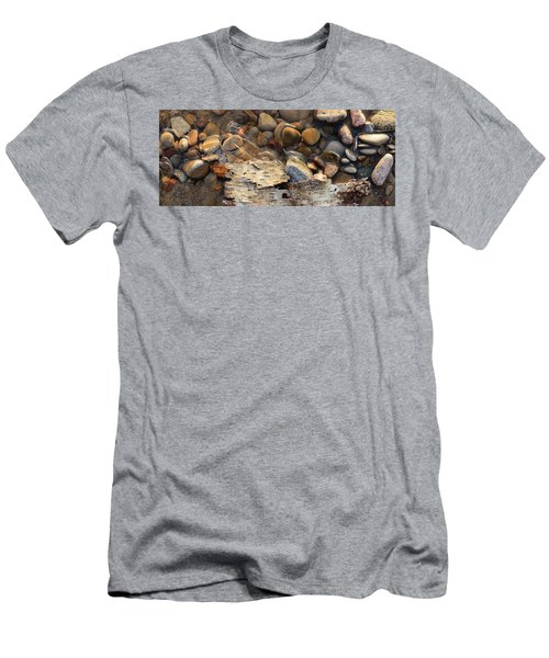 Birch Bark And Ice In The Creek Four  Men's T-Shirt (Athletic Fit)
