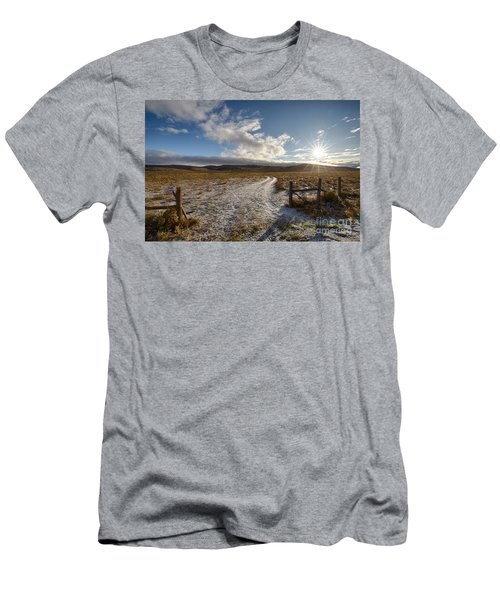 Birch Creek Valley Sun Men's T-Shirt (Athletic Fit)
