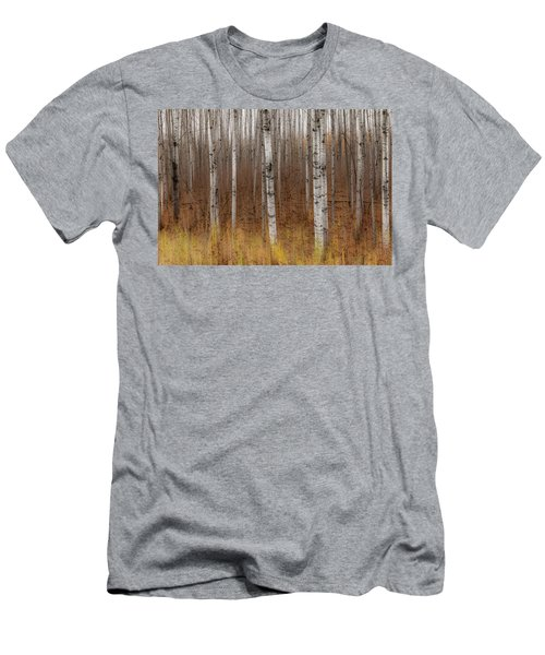 Birch Trees Abstract #2 Men's T-Shirt (Slim Fit) by Patti Deters
