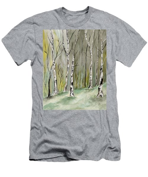 Birches Before Spring Men's T-Shirt (Athletic Fit)