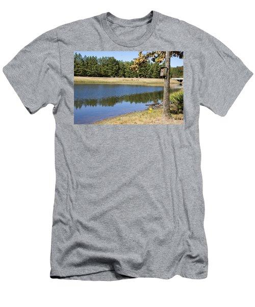 Bird House Lake Men's T-Shirt (Slim Fit) by Ricky Dean