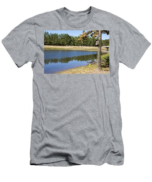 Bird House Lake Men's T-Shirt (Athletic Fit)