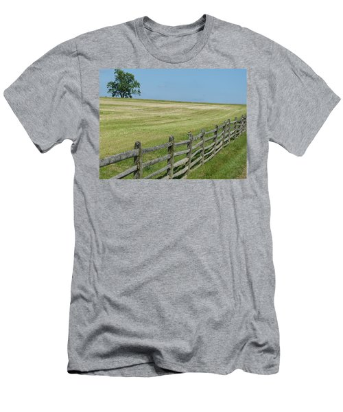 Men's T-Shirt (Slim Fit) featuring the photograph Bird On A Fence by Donald C Morgan
