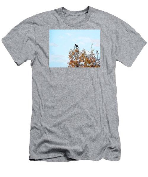 Bird On Tree Men's T-Shirt (Slim Fit) by Craig Walters