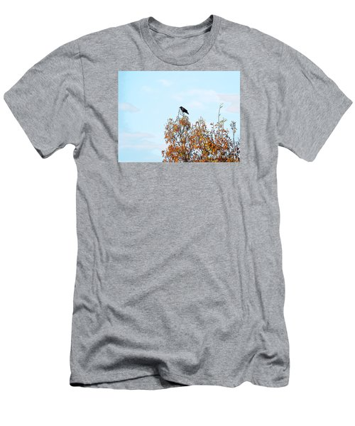 Bird On Tree Men's T-Shirt (Athletic Fit)