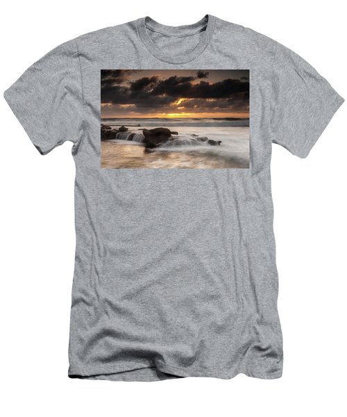 Bird Rock Clearing Storm Men's T-Shirt (Athletic Fit)